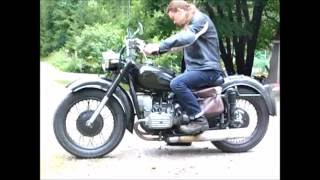 Dnepr mt-9 motorcycle sounds
