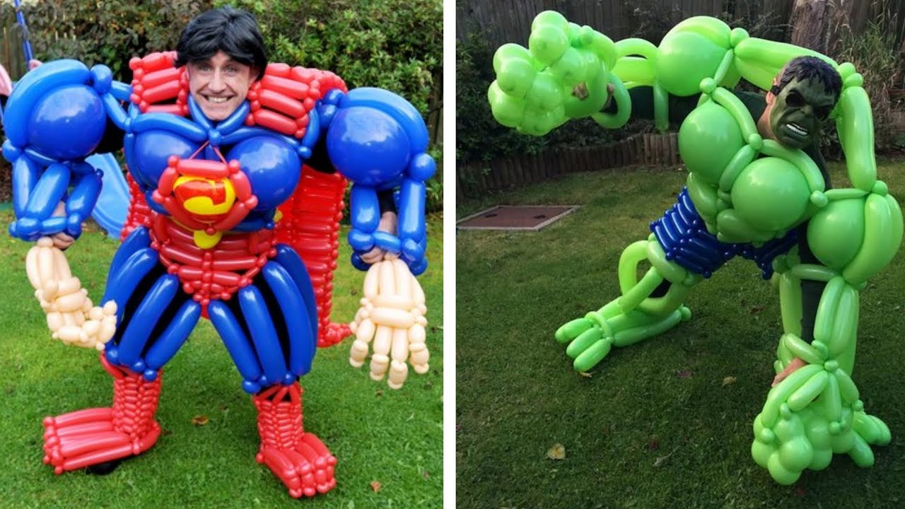 Man makes giant superman, hulk or any other superhero out ...