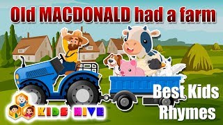 Old MacDonald Had A Farm, Best english rhymes, animated rhymes, kids songs, Rhymes for kids