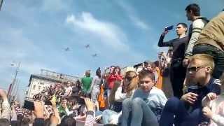 Парад победы 9 мая 2015 часть 2 истребители и пр. авиация