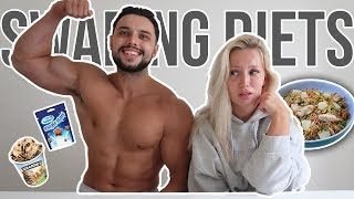 I Swapped DIETS With My Bodybuilding BOYFRIEND for 24 HOURS!