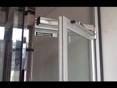 Automatic Swing Door Opener Systems Man Test For
