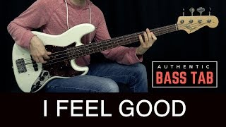 JAMES BROWN - I Got You (I Feel Good) /// Authentic Bass Cover - Bruno Tauzin