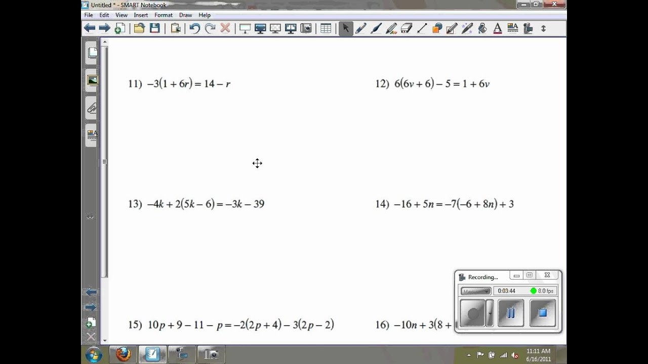Solving Multi Step Equations Kuta Software Infinite