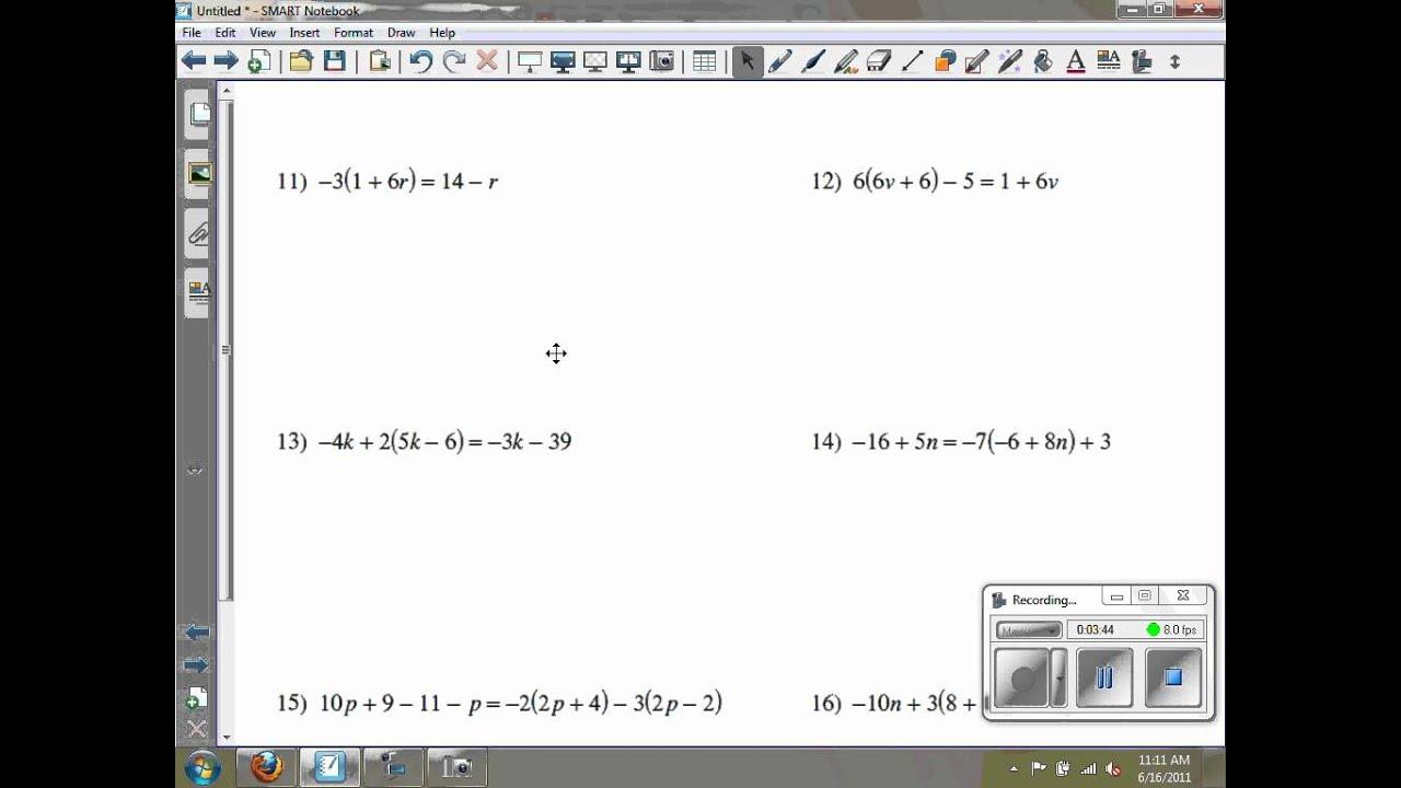 Solving Multi Step Equations Kuta Software Infinite Algebra 2 Ghchs