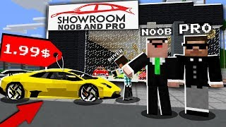 Minecraft NOOB vs PRO : OPENED a CAR SHOP! NEW BUSINESS In Minecraft (Animation)