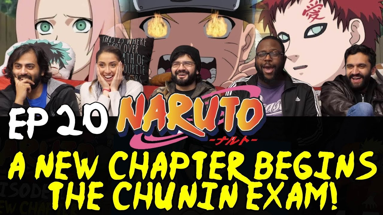 Naruto - Episode 20 A New Chapter Begins, The Chunin Exam! - Group Reaction