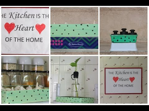 DIY kitchen projects/How to decorate your kitchen with waste products that we have at our home
