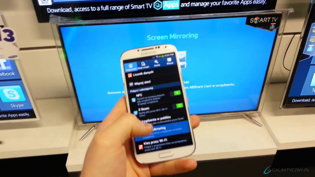 Samsung galaxy s4 screen mirroring allshare cast pl eng for Mirror screen
