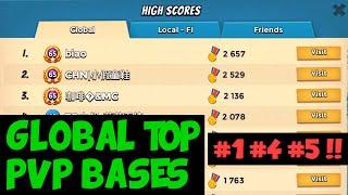 Global Top PVP Bases: Rank #1 #4 #5 Players! ✦ Boom Beach
