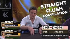 TOP 5 POKER STRAIGHT FLUSH HANDS OF ALL TIME!