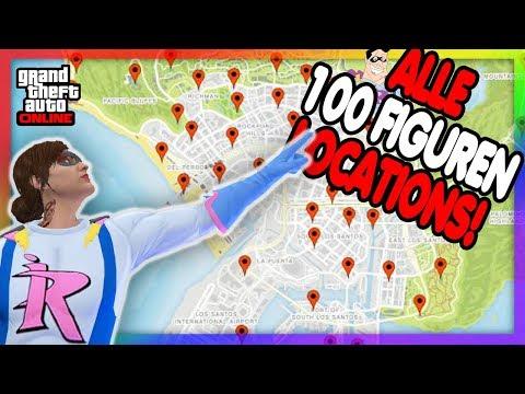😍 100000RP, SUPERHELDEN OUTFIT & Mehr !! Alle 100 FIGUREN LOCATIONS In GTA ONLINE !! 😍