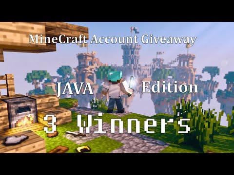💎 MineCraft Account Giveaway JAVA Edition   3 Winners : Free Mojang Accounts   STRIKER SAQ 19Apr2021