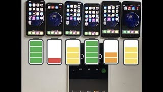 iPhone XS Max vs XS vs XR vs X vs 8 Plus vs 7 Plus Ultimate Battery Drain Test!