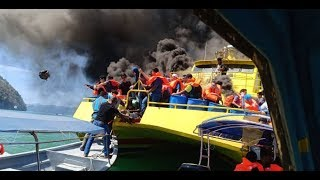Passenger ferry catches fire; passengers rescued