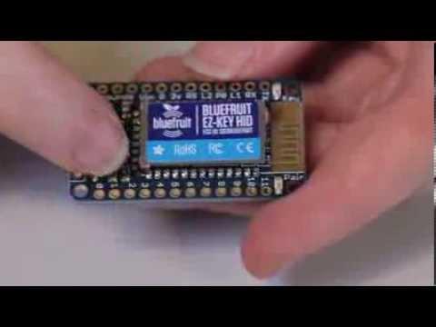 Adafruit's Bluefruit EZ-Key - Easy Bluetooth for makers!
