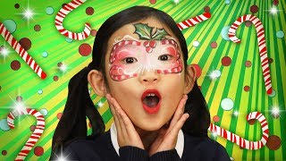 Candy Cane Face Paint | WigglePop