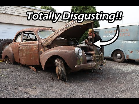 Cleaning The Grossest Barn Find Ever - The 1939 Mercury Coupe - Ep. 2