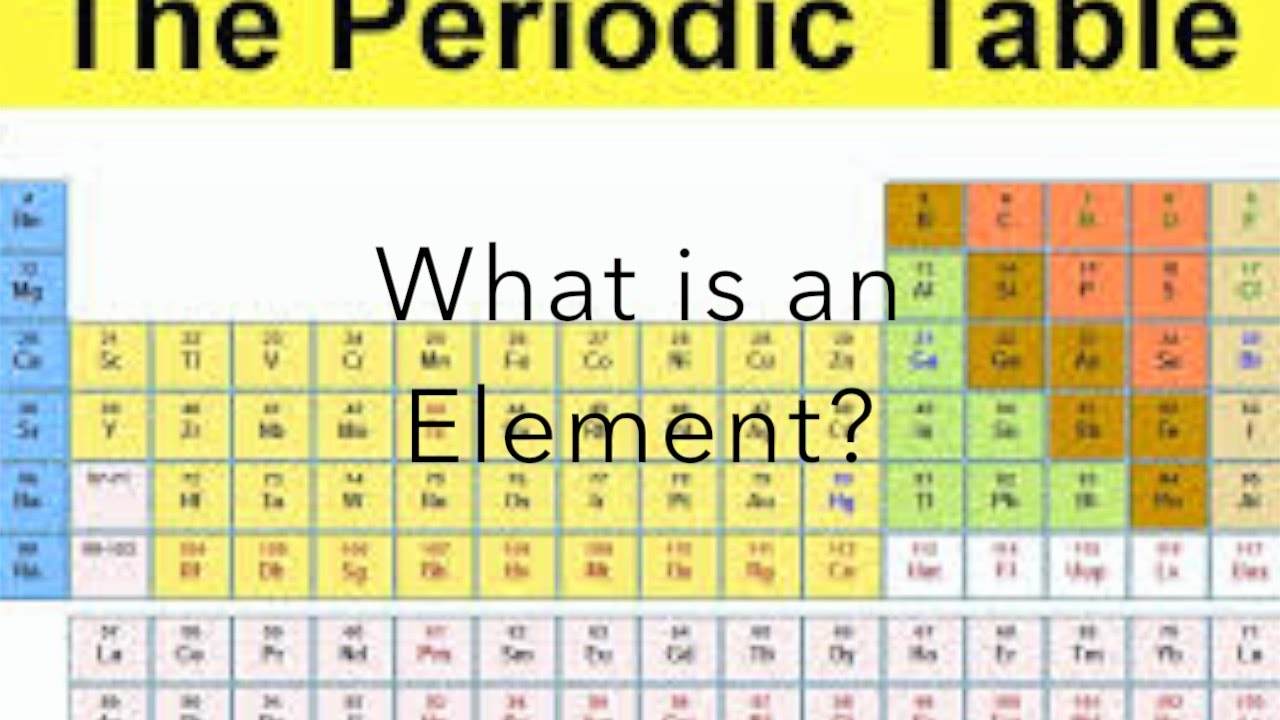 What Is An Element Youtube