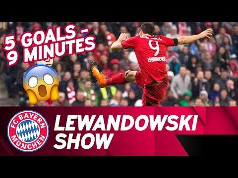 5⃣  Goals in 9⃣  Minutes: Lewandowski Show | Time Lapse | FC Bayern - VfL Wolfsburg