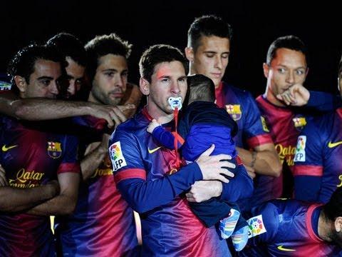 Barcelona vs Valladolid 19/05/13 celebracion del campeon liga 2012-2013 thumbnail