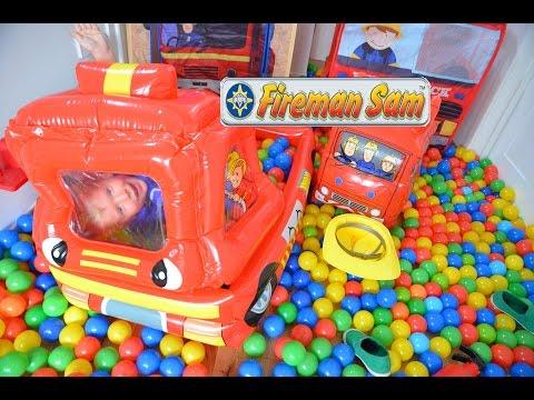 Fireman Sam Ball Pit Fun Clip Inflatable Fire Engine Feuerwehrmann Sam