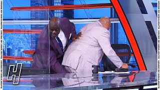 Charles Barkley Cramps Up During the Break & Shaq Comes in for the Save - Inside the NBA 😂