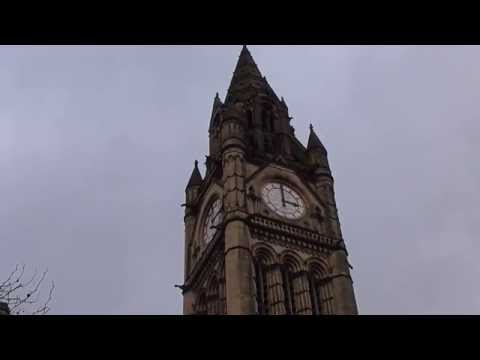 Manchester Town Hall Clock and Albert Square