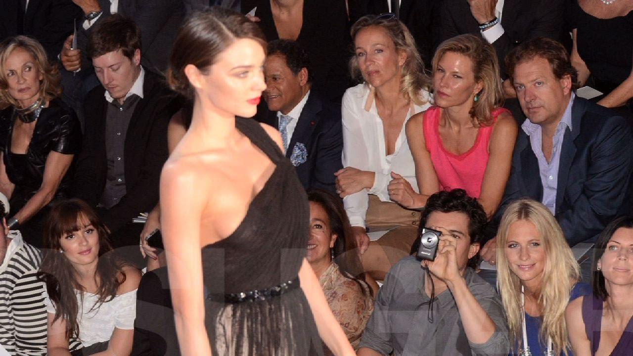 fe9f0f4f58 Miranda Kerr Walks at Paris Fashion Week as Orlando Bloom Cheers Her On! -  YouTube