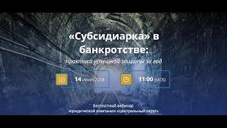 видео Адвокат: Субсидиарная ответственность при банкротстве.