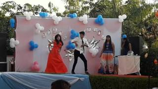 farewell dance in jvp school by rohit and aditi