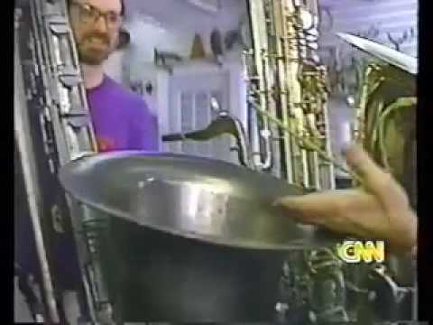 Scott Robinson and Contrabass Sax on CNN 1997