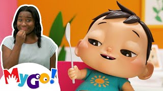 Yes Yes Vegetables   MyGo! Sign Language For Kids   Lellobee - Nursery Rhymes & Baby Songs   ASL