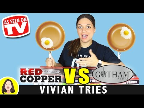 Save RED COPPER vs GOTHAM STEEL COPPER PAN REVIEW | TESTING AS SEEN ON TV PRODUCTS Images