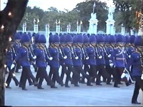 Bangkok Royal Thai King's Guard in an amazing and wonderful military parade