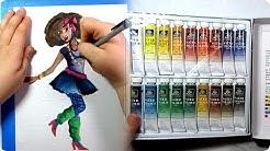 CHEAP ART SUPPLY CHALLENGE #3 // Watercolor supplies // Ocean State Job Lot