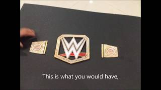 How to make a WWE World Heavyweight Champion Title Belt easy!