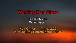 Merle Haggard - Working Man Blues (Backing Track)