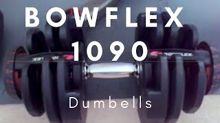 Bowflex 1090 Dumbells and Bowflex Bench