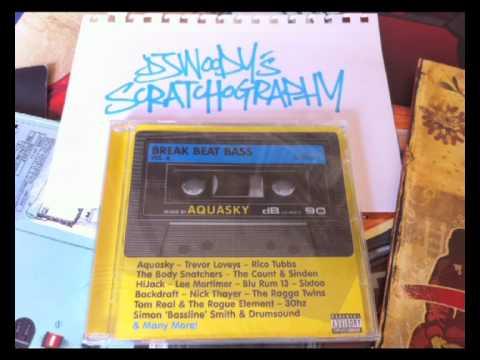 DJ WOODY Scratchography: Aquasky - Breakbeat Bass Intro