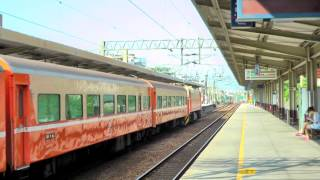 [HD] The Taiwan TRA up Chu-Kuang Express No. 510 haul by GE (E42C) E223) at Shulin Station