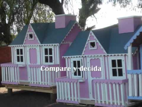 Casitas de madera danna y nicol youtube for Casitas de madera