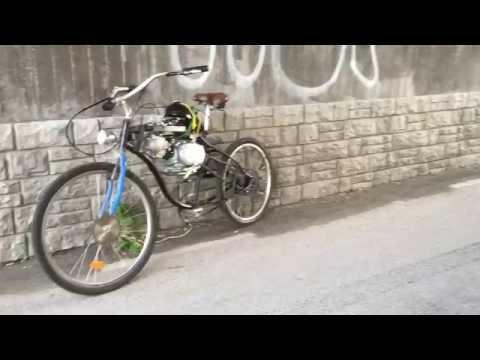 motorized bike finished! pitbike engine