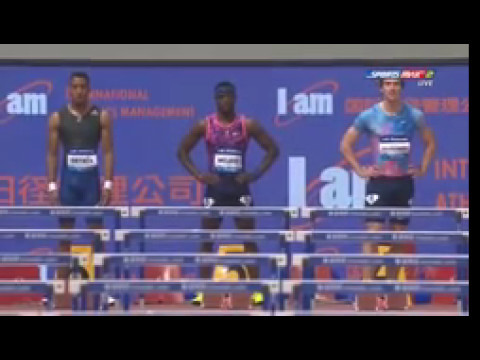Omar McLeod win Men's 110m Hurdles Shanghai Diamond League 2017