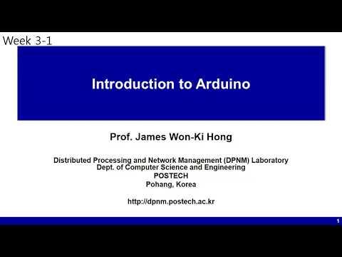 [포스텍 MOOC] IoT: week3-1 Introduction to Arduino