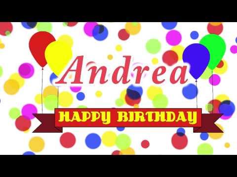 Happy Birthday Andrea Song