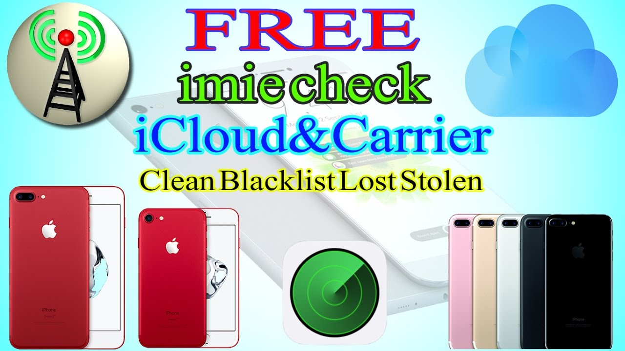 How to check imei iPhone free Check Clean Lost or Blacklist / All ...