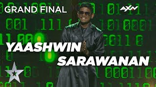 Yaashwin Sarawanan  Malaysia  Grand Final - Voting Closed | Asia's Got Talen