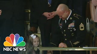 Trump Helps Officer Surprise His Family At The State Of The Union | NBC News