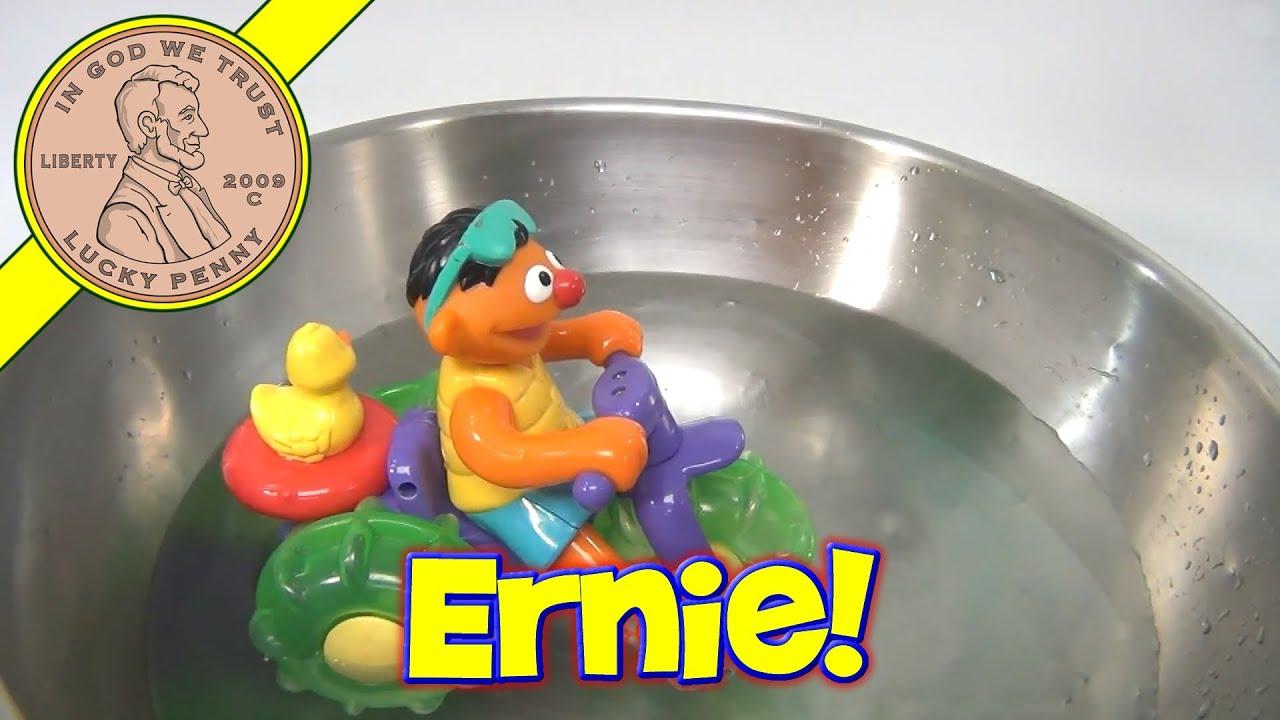 Sesame Street Ernie Trike Bath Time Toy Beach Aqua Bike Rubber